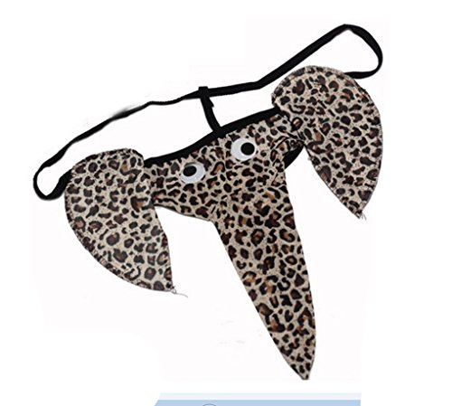 Geoot Men's Hot Cartoon Elephant Pattern Funny G-String Sexy Underwear T-Back ()