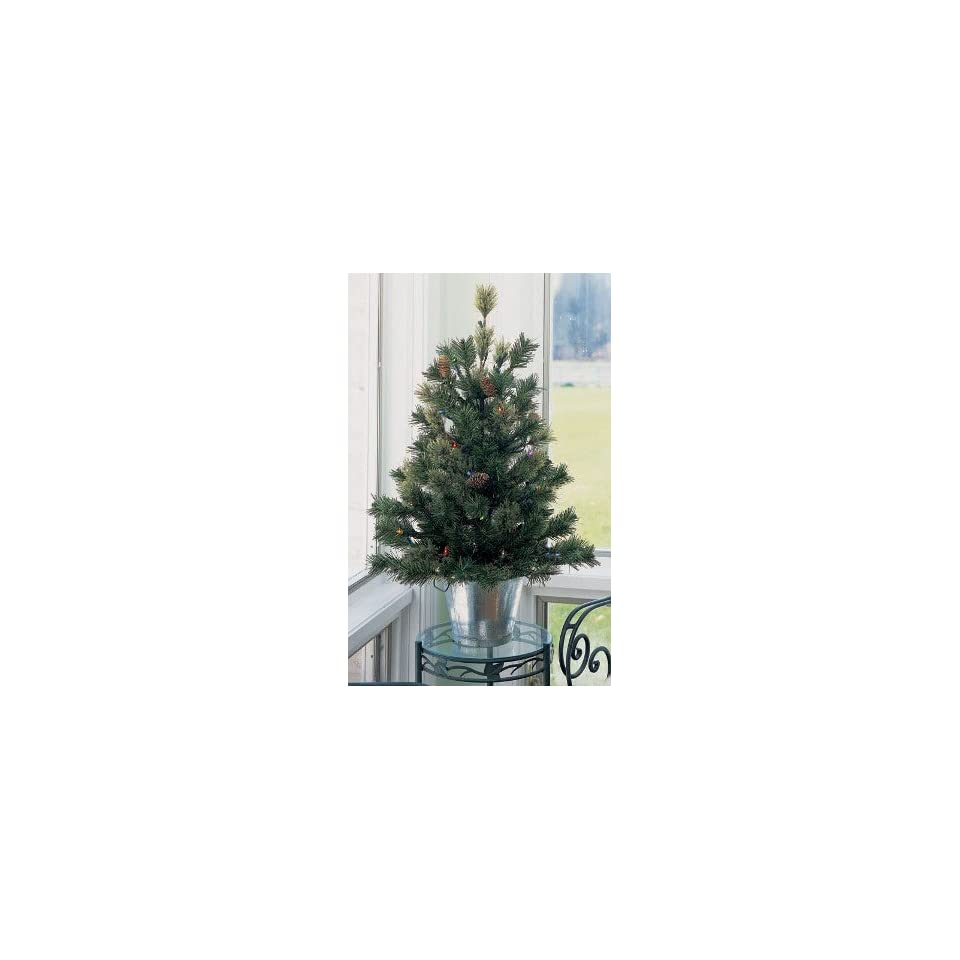 2.5 Mixed Cashmere Pine Multi Pre Lit Potted Artificial Christmas Tree #H89082