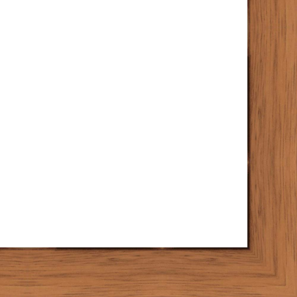 27x39 - 27 x 39 Honey Pecan Flat Solid Wood Frame with UV Framer's Acrylic & Foam Board Backing - Great For a Photo, Poster, Painting, Document, or Mirror