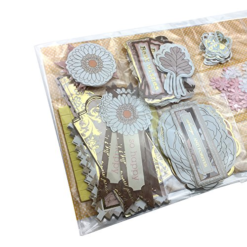 Jiulyning DIY Handmade Greeting Card Kit for Holiday Birthday Party Invitation, Includes 30 Cards, 30 Envelopes and A Varirty of Embellishments (30-B)