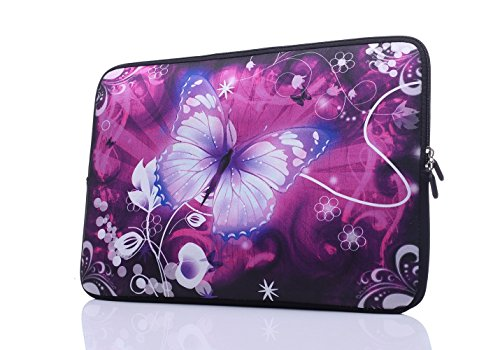 15-Inch to 15.6-Inch Laptop Sleeve Carrying Case Neoprene Sleeve For Acer/Asus/Dell/Lenovo/Macbook Pro/HP/Samsung/Sony/Toshiba, Pink Butterfly (Computer Bag For 15 Inch Laptop)