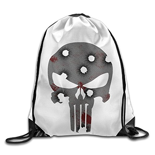 Bekey The Punisher Gym Drawstring Backpack Bags For Men & Women For Home Travel Storage Use Gym Traveling Shopping Sport Yoga