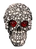 JustNile Scary Skull Halloween Decoration with Light-Up Eyes - Head of Skulls