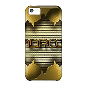 Awesome TJq16160nufN Happycases2005 Defender Tpu Hard Cases Covers For Iphone 5c- Android Gold