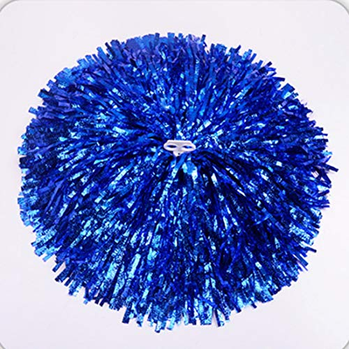 Mega Shop Cheerleading Pom Poms 1 Pair/Set Funny Dance Girls Practical Cheerleading Pompoms Apply to Sports Match and Vocal Concert (Blue)]()