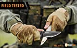 SWAT Tactical Knife - Folding Pocket Knife with Half Serrated Stainless Steel Blade and G10 Handle Perfect for Rescue, Self Defense, Hunting, Survival, Fishing, Hiking, Camping, Climbing