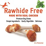 LuvChew Premium Dog Bones, Made with Real Chicken & Wholesome Vegetables, Rawhide Alternative, Medium 5pcs/Pack