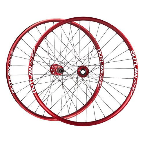 AZONIC Outlaw 650B Wheelset, Red, 142mm ()
