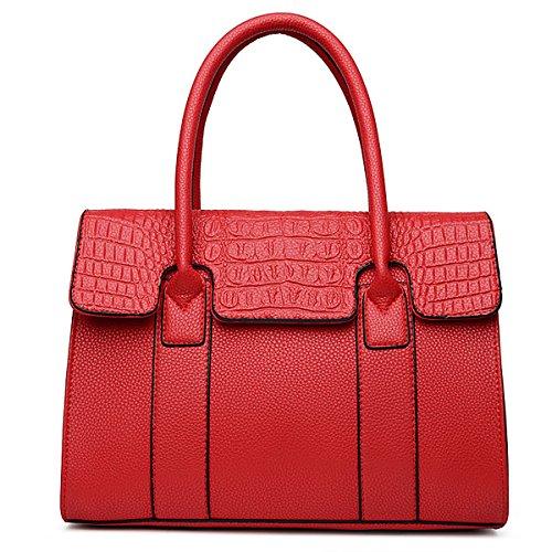 Coolives Handbags Elegant Disign Bag Top Handle Bag Travel Bag Pu Leather Ladies Red