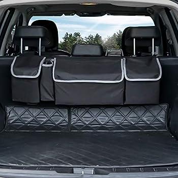 Amazon Com Siivton Backseat Trunk Organizer Space Saving Car Trunk
