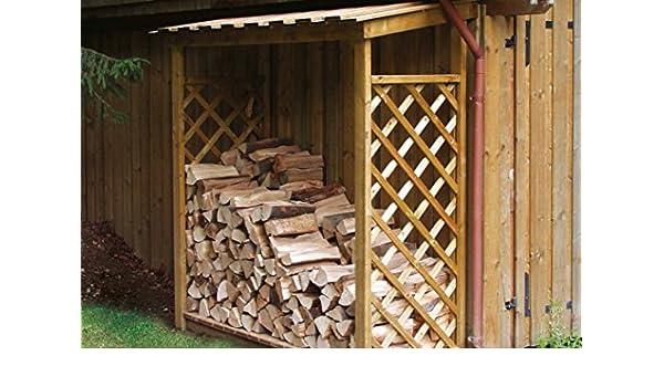Leñero para exterior de madera - ENVIOS SOLO A PENÍNSULA: Amazon.es: Bricolaje y herramientas