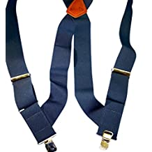 "HoldUp Hip-clip Series Trucker Style 2"" wide Suspenders (Blue)"