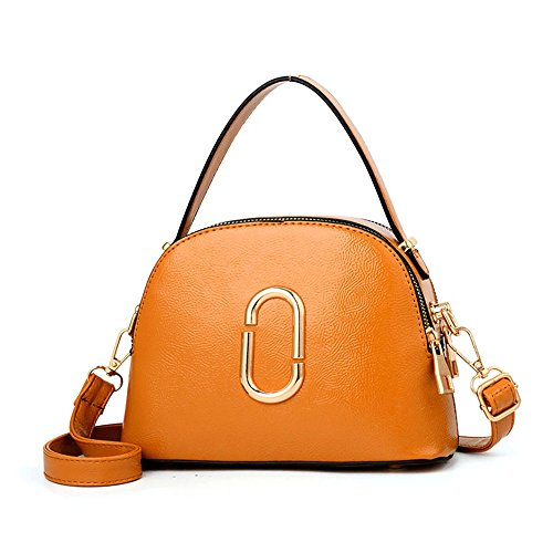 GWQGZ Bolso De Moda Bolso De Señora Simple Temperamento Elegante Bolso De Hombro Tipo Cremallera Rosa Fuerte Orange