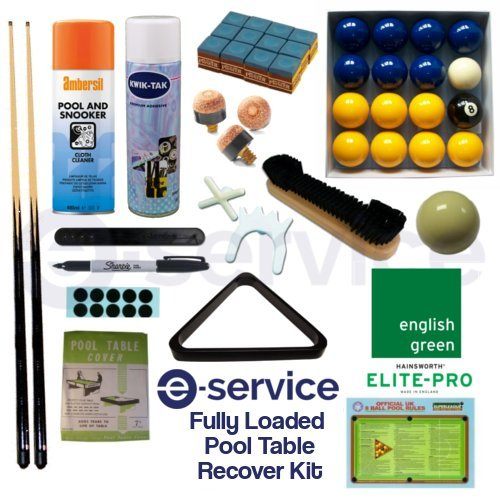 7 Foot Pool Table Recovery Kit - 7'x4' Bed & Cushion Elite-Pro Hainsworth...