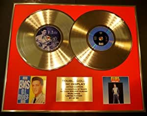 "ELVIS PRESLEY/double CD Disco de Oro & Foto Display/Edicion LTD/Certificato di autenticità/""G.I. BLUES"" & ""MO..."