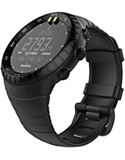 """MoKo Watch Band Compatible with Suunto Core, Classic Replacement Soft WristBand with Metal Clasp fit Suunto Core Smart Watch, Fits 5.51""""-9.06"""" (140mm-230mm) Wrist, All Black"""