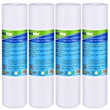 """ICEPURE 5 Micron 10"""" x 2.5"""" Whole House Sediment Water Filter Replacement Cartridge Compatible with Any 10 inch RO Unit, Culligan P5, Aqua-Pure AP110, WFPFC5002, CFS110, RS14, WHKF-GD05, 4-Pack"""