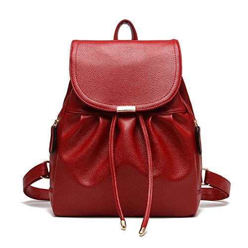 Leather Purse Mini Bag for amp; Girls Shoulder joyee Casual Women Fashion Red3 Backpack School Z Backpack pzEXqxgw