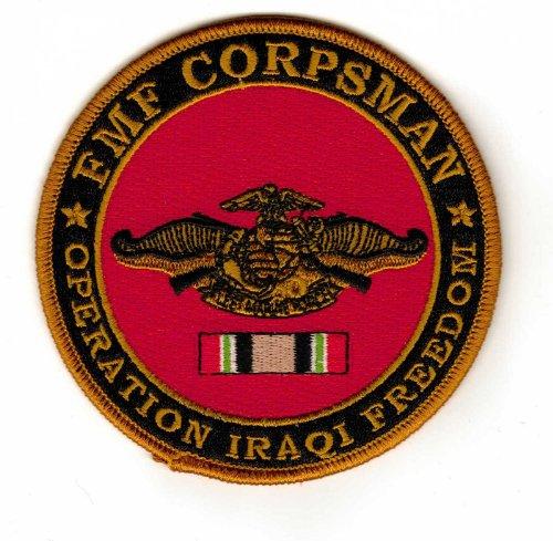 (FMF Corpsman Operation Iraqi Freedom Veteran Patch)