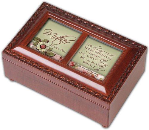 Mother Cottage Garden Inspirational Woodgrain Petite Music Box Plays Ave Maria