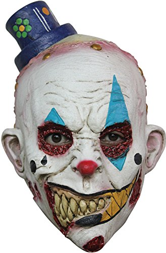 Ghoulish Boy's Horror Mime Zack Zombie Clown Latex Mask Child Halloween Accessory -