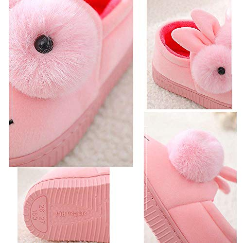 Girls Bootie Slippers Cute Bunny Winter Warm Kids Indoor Outdoor Fuzzy Shoes by Mtzyoa (Image #2)