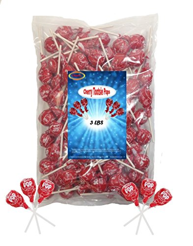 Cherry Tootsie Roll Pops 3 Lbs (Cherry Tootsie Roll Pops)