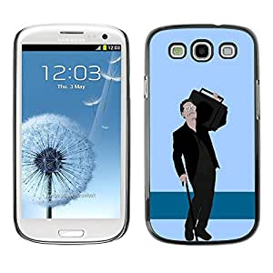 PC/Aluminum Funda Carcasa protectora para Samsung Galaxy S3 I9300 Cool Hipster Dude / JUSTGO PHONE PROTECTOR