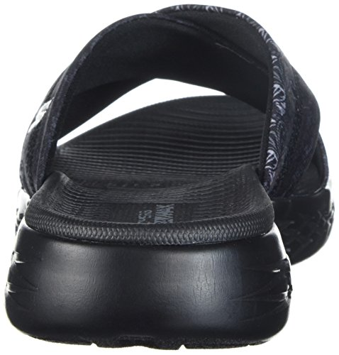 Skechers Performance Damen 600-Monarch Slide Sandale für unterwegs Schwarz