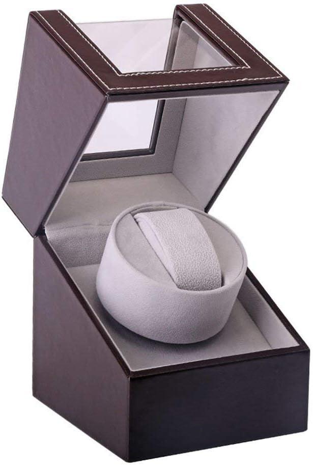 HYCy Enrollador de Reloj, Dispositivo de Mesa vibratoria Agitador de Reloj Mesa única Caja de Almacenamiento para el hogar Reloj mecánico de Cuerda eléctrica