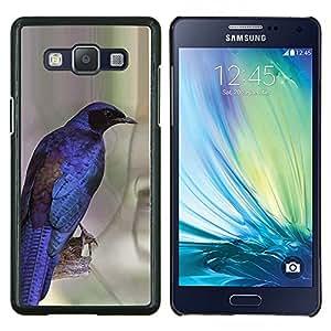 Dragon Case - FOR Samsung Galaxy A5 A5000 A5009 - vibrant purple blue bird feathers wings - Caja protectora de pl??stico duro de la cubierta Dise?¡Ào Slim Fit