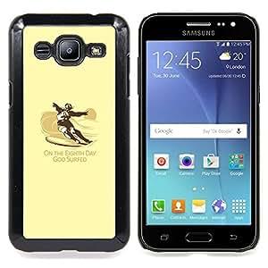 "Qstar Arte & diseño plástico duro Fundas Cover Cubre Hard Case Cover para Samsung Galaxy J2 / J200 (Dios Practicado surf - Gracioso - Surf"")"