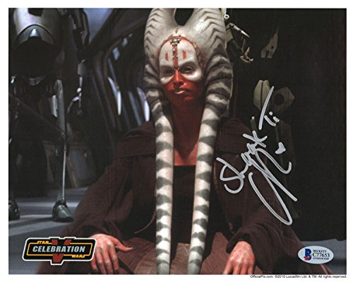 Star Wars Shaak Ti Orli Shoshan Autographed 8x10 Star Wars Celebration 3 Pic Photographs