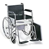 Chaithanya Orthopaedics Fc Premium Wheelchair With Commode - Detachable Armrest & Footrest