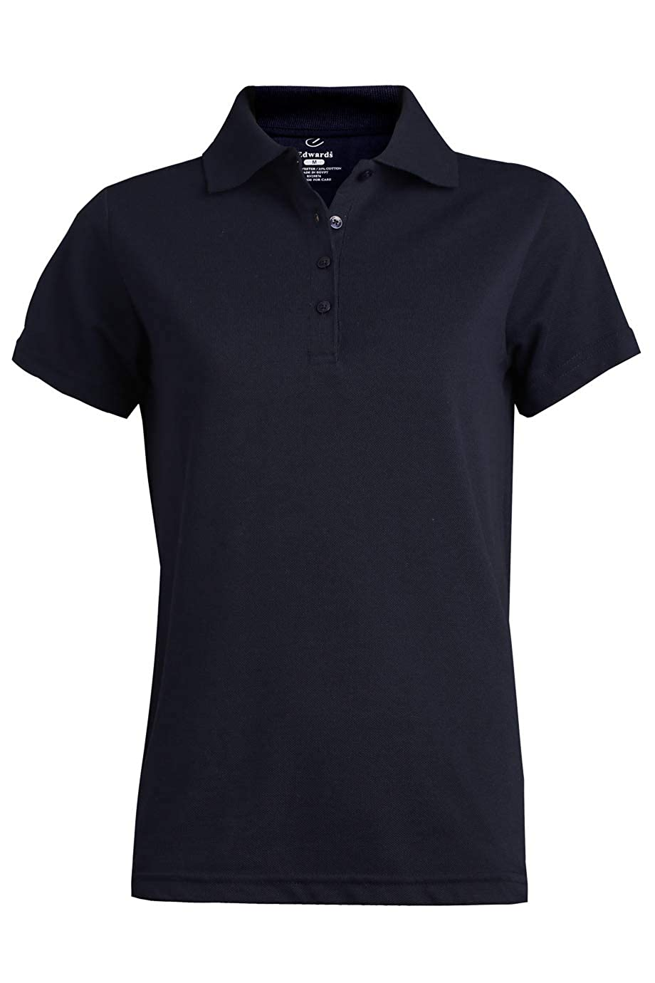 Edwards Ladies Blended Pique Short Sleeve Polo