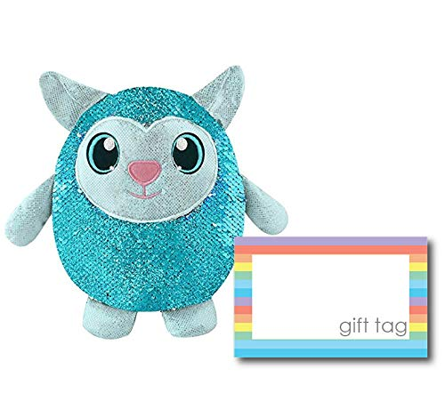 Shimmeez Lainey The Lamb Reversible Sequin Plush With Gift Card, Animal Plush Toys, Unique Sets for Kids, Birthday Gift Ideas for -