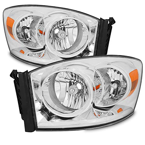 For 06-08 Ram 1500 06-09 Ram 2500 3500 Pickup Truck Headlights Front Lamps Direct Replacement Left+Right