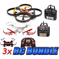 Striker, Nimbus, Horizon 2.4GHz 4.5CH Mini RC Drone 3-Pack Bundle