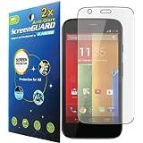 2x Motorola Moto G XT1032 XT1033 XT1034 XT1035 Premium Anti-Glare Anti-Fingerprint Matte Finishing LCD Screen Protector Cover Kit (Package by GUARMOR)