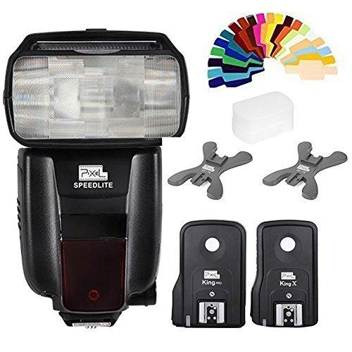 ピクセルx800 N標準ワイヤレスTTL HSSフラッシュスピードライト+ King Pro Flash Trigger for Nikon d3000 d3100 d3200 d3300 d5000 d5100 d5200  d5300  d5500  etcの商品画像