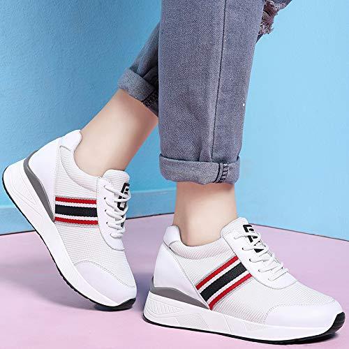 Moda manipolare nastri sport maglie da AJUNR comode respirabile black Alla scarpe Donna scarpe qwnE1a