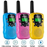 Walkie Talkies for Kids 3 Pack, 22 Channel Long Range Up to 3 Miles Kids Walky Talkies for Age 3-12 Year Old Boys Girls Two Way Radio Toy