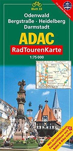 ADAC Radtourenkarte Odenwald, Bergstrasse, Heidelberg, Darmstadt: 1:75000