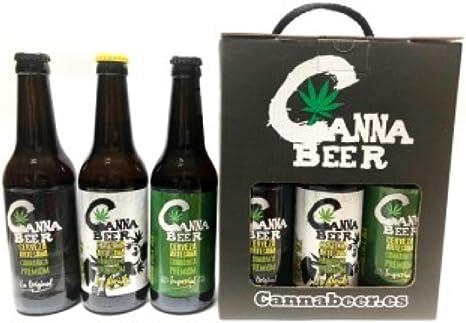 Pack de CannaBeer Cerveza Artesana Cannabica Premium, incluye La Imperial, La Dorada y La Original: Amazon.es: Alimentación y bebidas