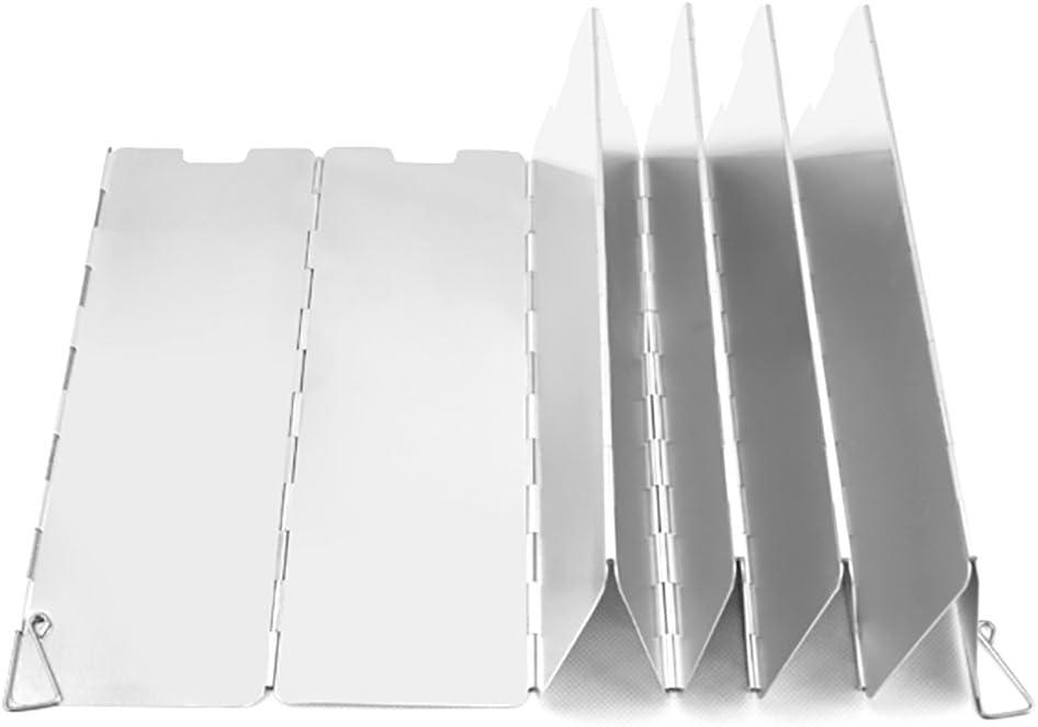 Leezo 10/Assiettes Pliable Pare-Brise de R/échaud de Camping ext/érieur D/éflecteurs dair R/échaud de Camping Pare-Brise Cuisson cuisini/ère R/échaud /à gaz Pare-Vent /écrans