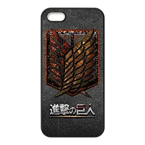 ZXCV The Cartoon Anime Attack On Titan Cell Phone Case for Iphone 5s