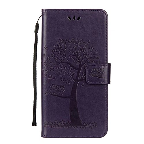 Galaxy S9 Plus Case, Ngift [Owl] [Stand Feature] Wallet PU Leather Folio Wallet Case Cover Built-in Card Slots with Wrist Strap for Samsung Galaxy S9 Plus