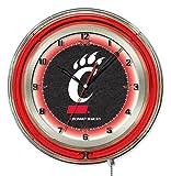 "Cincinnati Bearcats HBS Neon Red Black College Battery Powered Wall Clock (19"")"