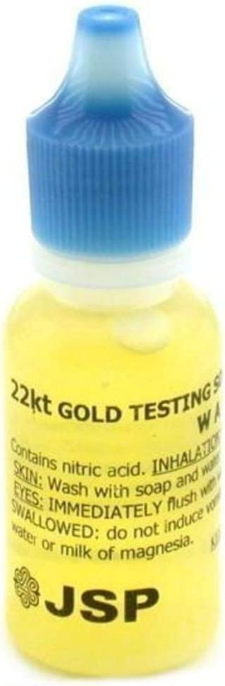 JSP Gold Jewelry Acid Test 10K 14K 18K 22K Platinum Silver Testing Kit
