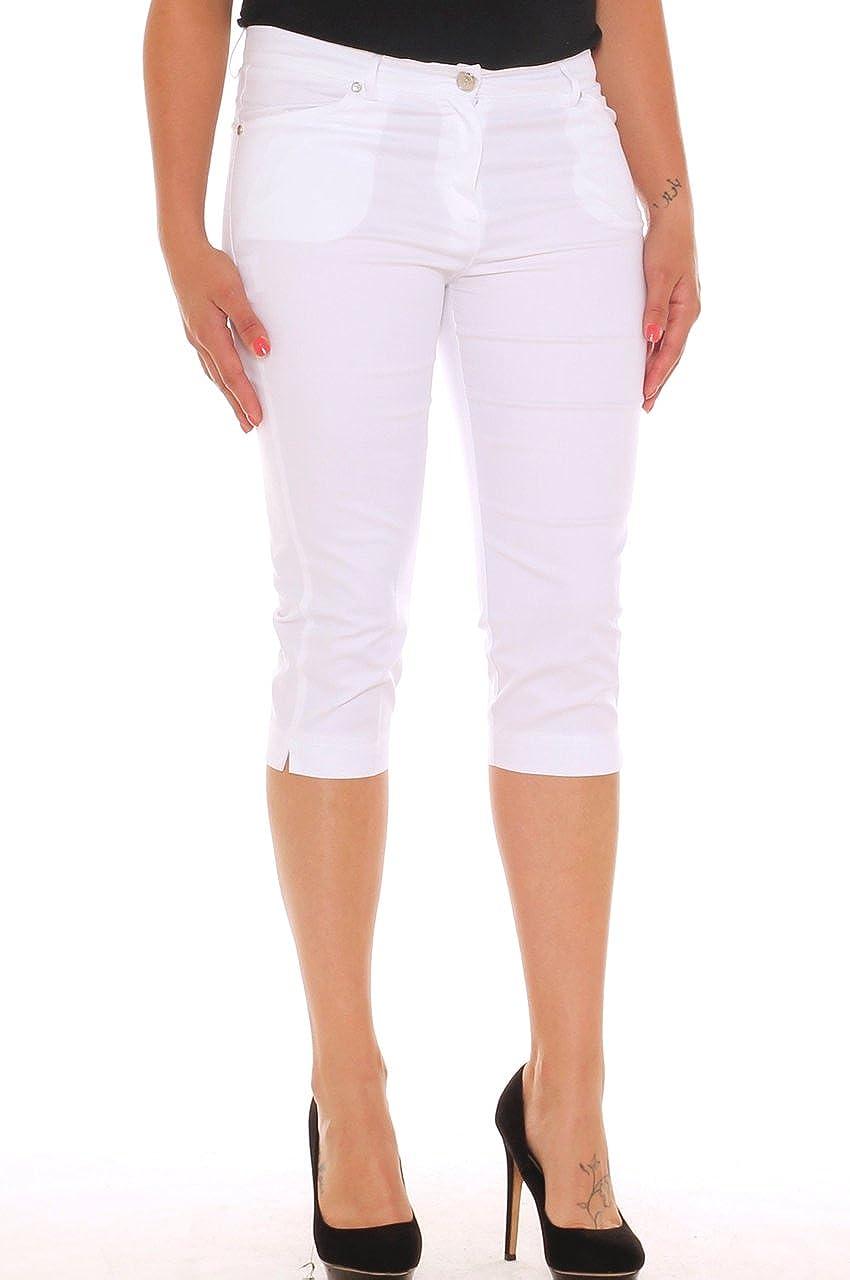 0063d770234057 Emanuela Costa Pinocchietto Skinny Donna in Cotone Stretch con Strass  Taglia Morbida: Amazon.it: Abbigliamento